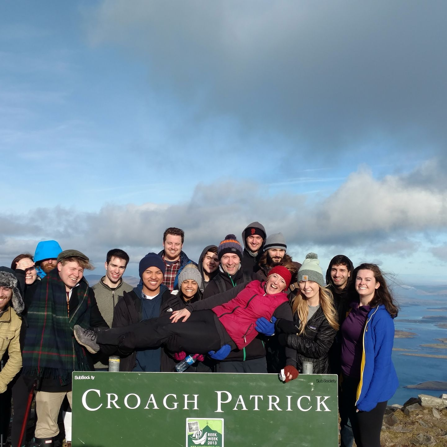 That time we climbed Croagh Patrick, Saint Patrick's holy mountain in County Mayo in the West of Ireland. Jan Term 2017