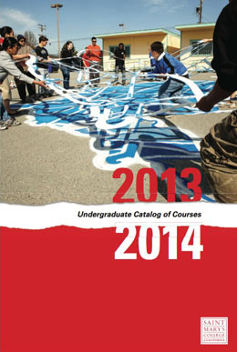 2013-2014 SMC Undergraduate Course Catalog cover.
