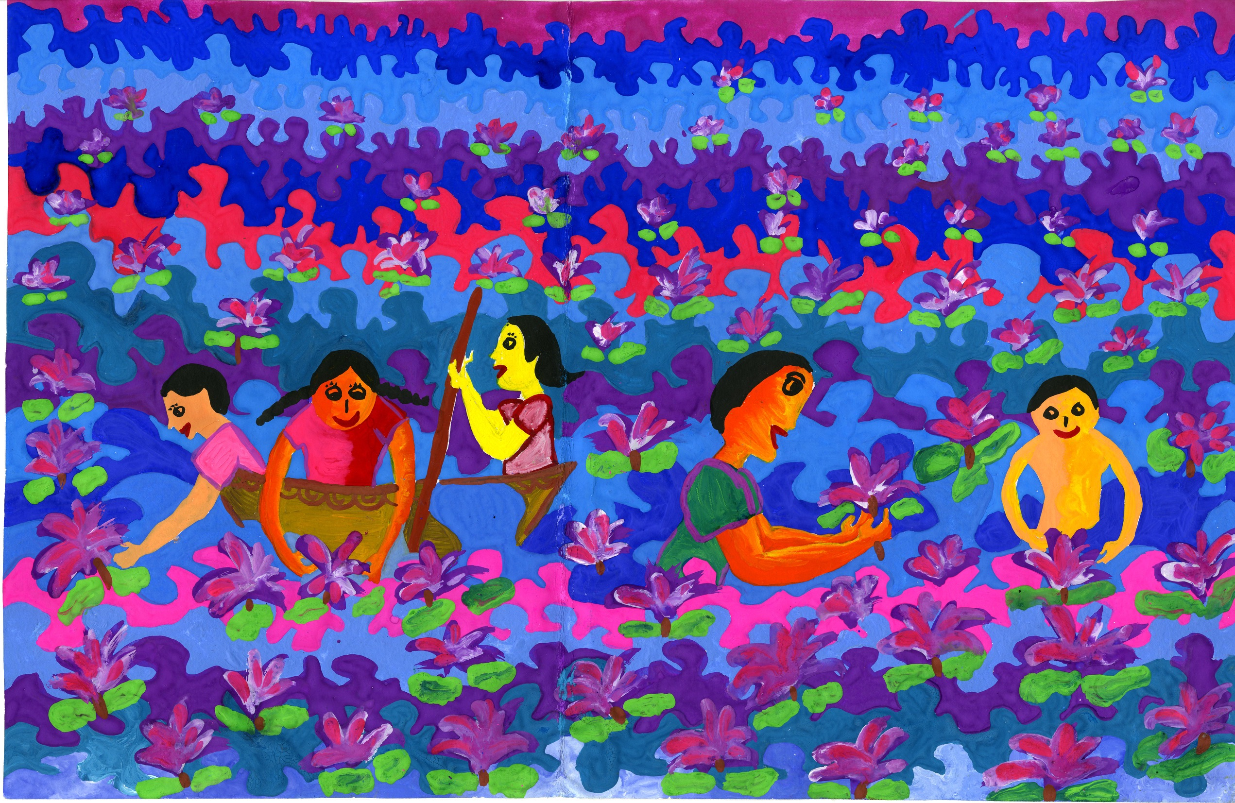 "2015 River of Words Finalist ""Flowers"" Savindu Hiranniya Herat, age 12. Kurunegala, Sri Lanka"