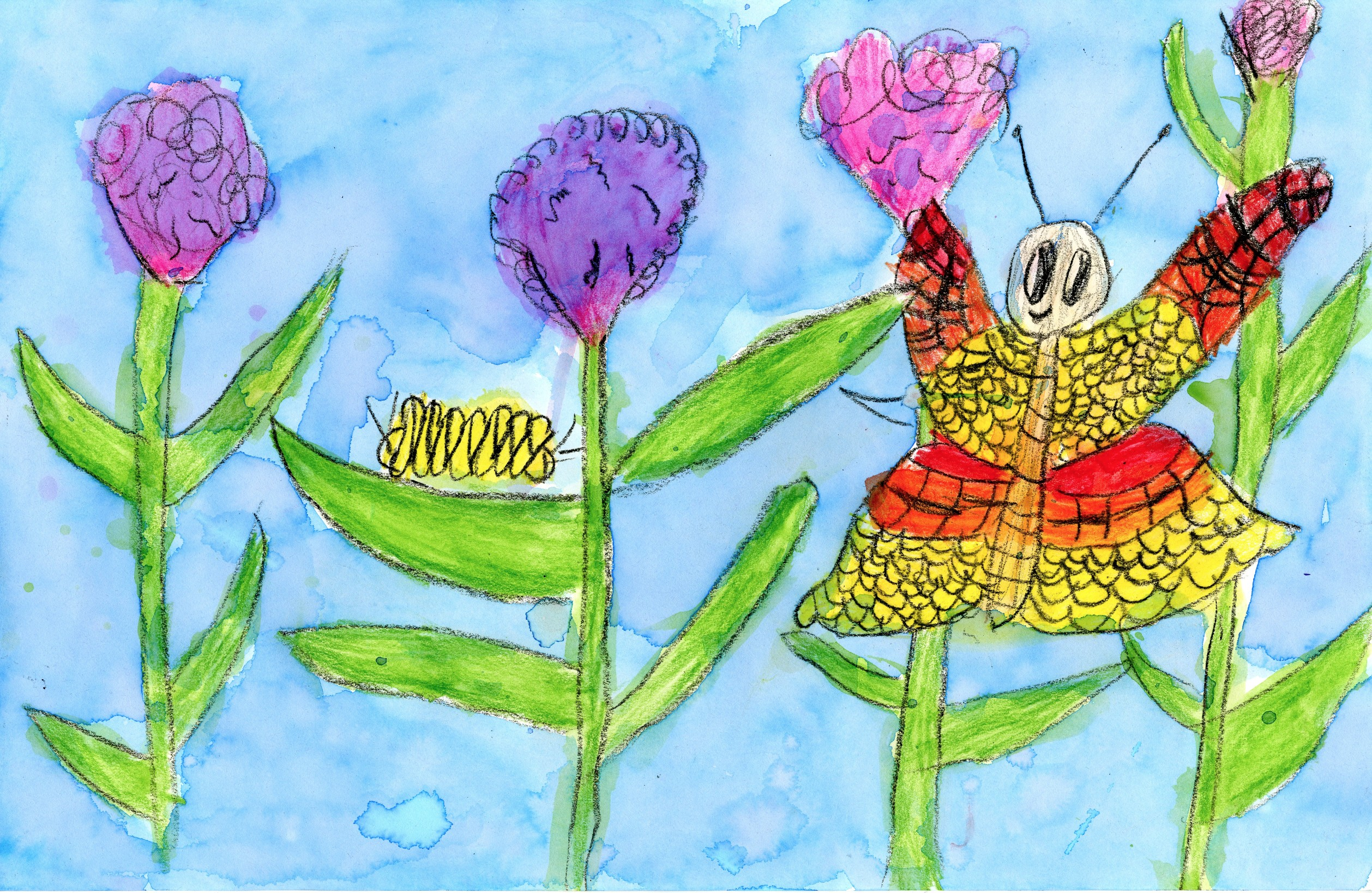 "2015 River of Words Finalist ""Butterfly Smile"" Sloan Milam, age 8. Smyrna, Georgia. Springmont School (Atlanta) - Teacher: Theresa Dean"