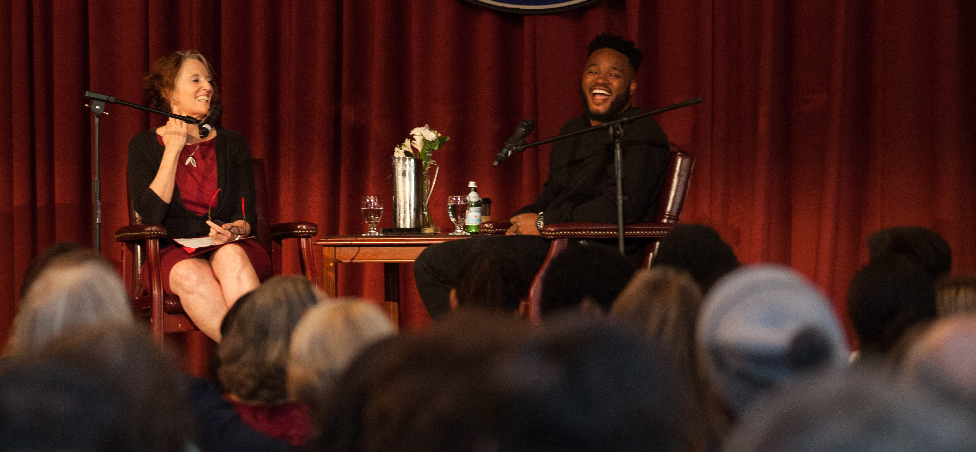 "Former Saint Mary's student and acclaimed director of ""Black Panther,"" ""Creed"" and ""Fruitvale Station"" sat down for a conversation with his former English Professor Rosemary Graham in the Soda Center on Wednesday, May 16."