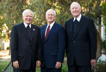 Three presidents: Brother Ronald Gallagher, James A. Donahue and Brother Mel Anderson.