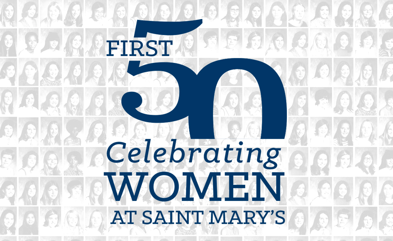 Logo of First 50 Celebrating Women at Saint Mary's
