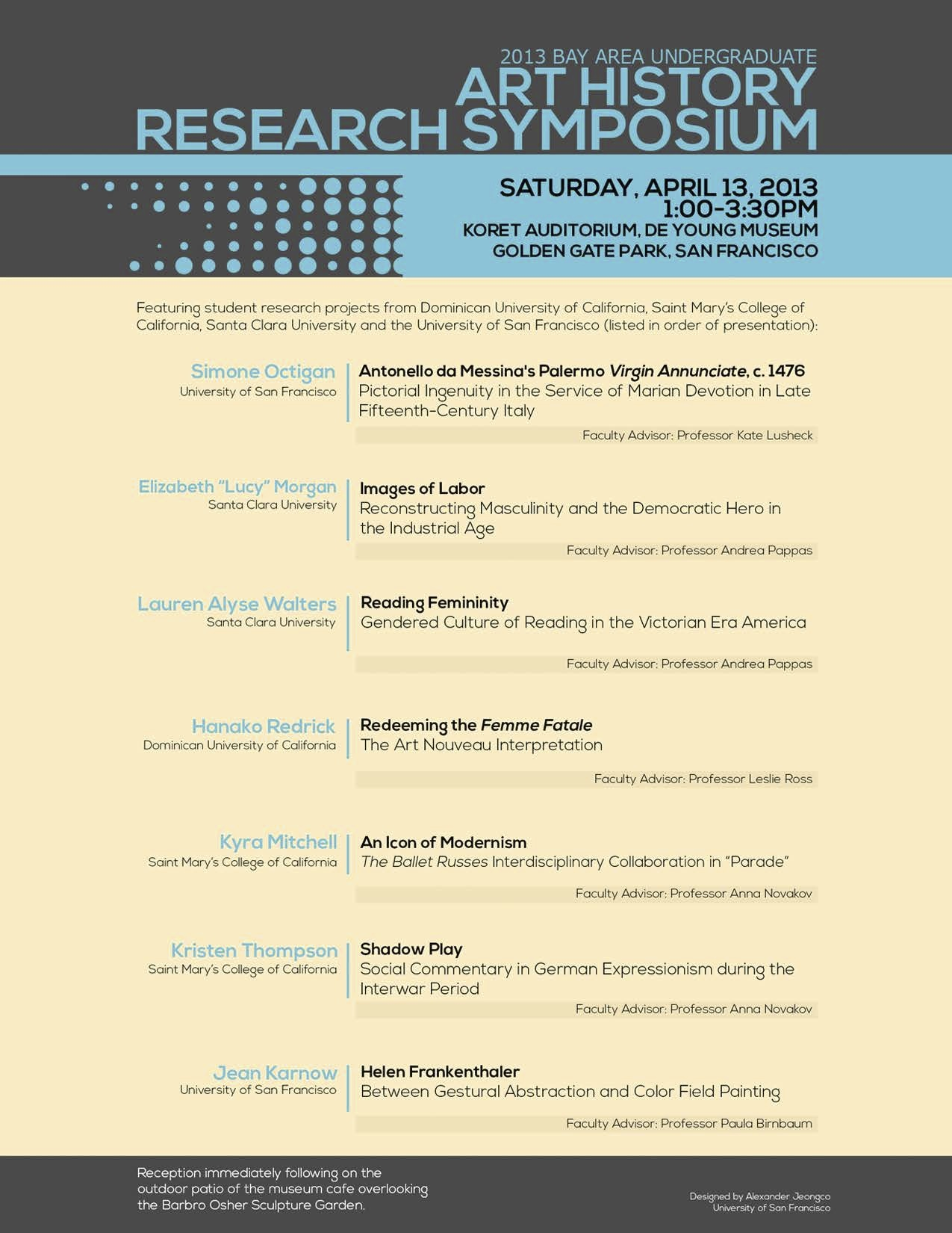 Fourth Annual Bay Area Undergraduate Art History Research Symposium