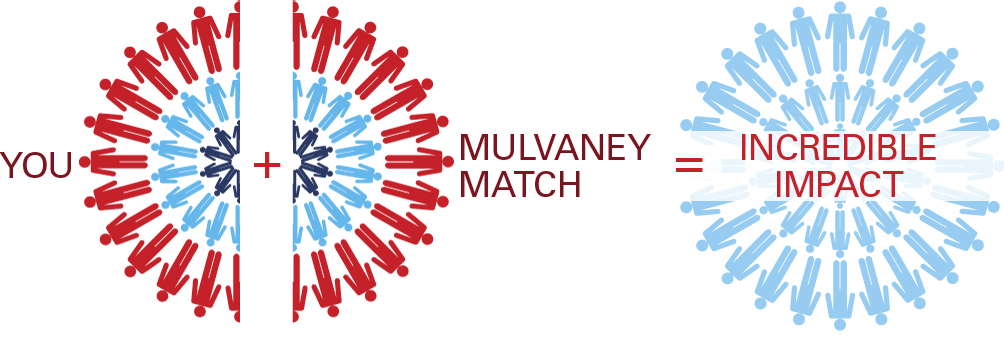 You + Mulvaney Match = Incredible Impact illustration.