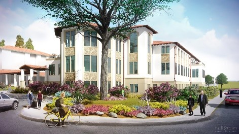Architect rendering of academic hall