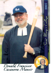 Brother Donald's baseball card