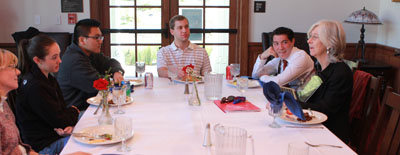 Brownlee at student roundtable