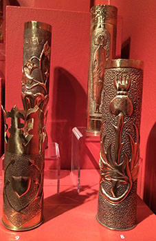 WWI trench art exhibit at Saint Mary's Museum of Art