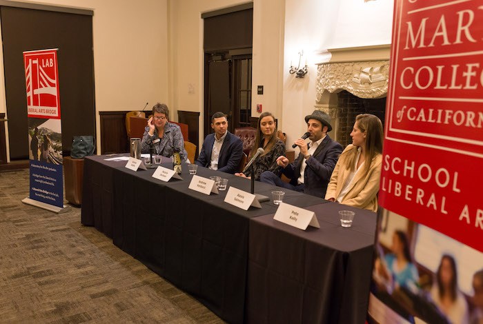 The Business of Creativity panel discussion was a 2019 Liberal Arts LAB event for students.