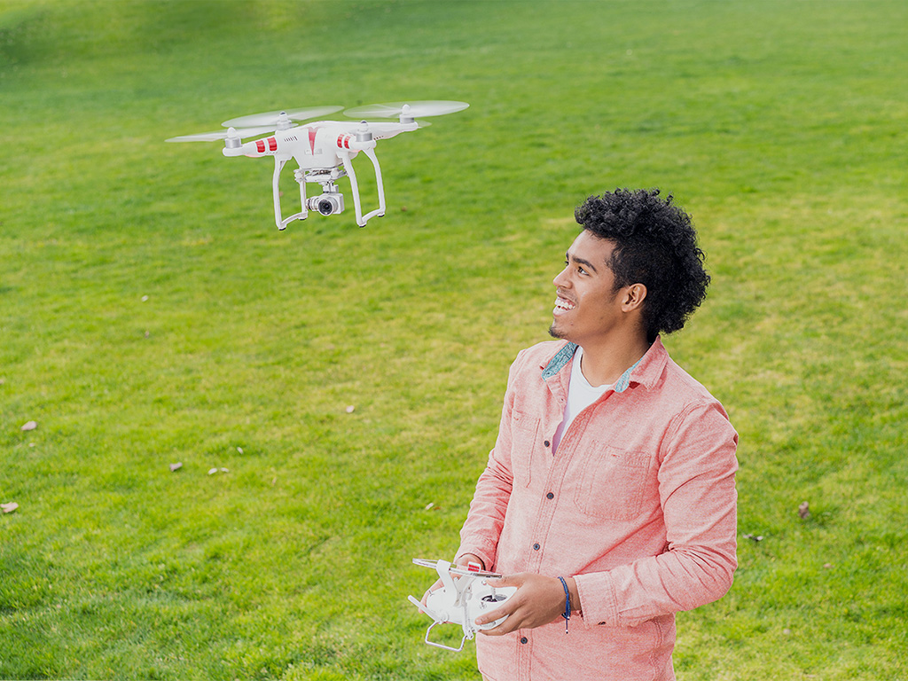 All his life, Cameron Cabading '18 has been building—from cars to robots, and now drones.