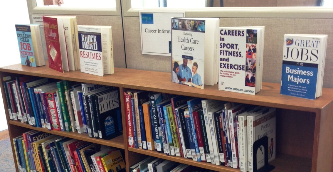 Photo of Career Information section in the Library