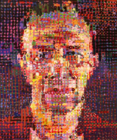 Chuck Close, Portrait of Alex Katz
