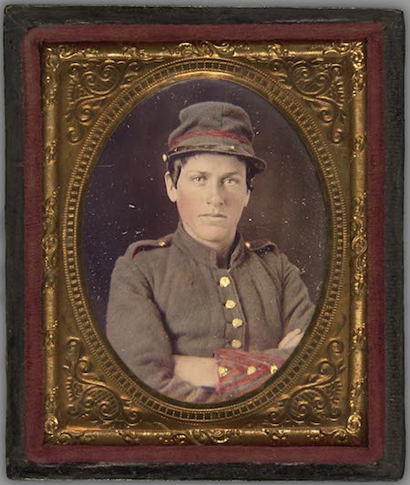 "Frances Clayton disguised herself as ""Frances Clalin"" to fight in the Civil War."