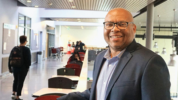 Photo of college president John Mosby