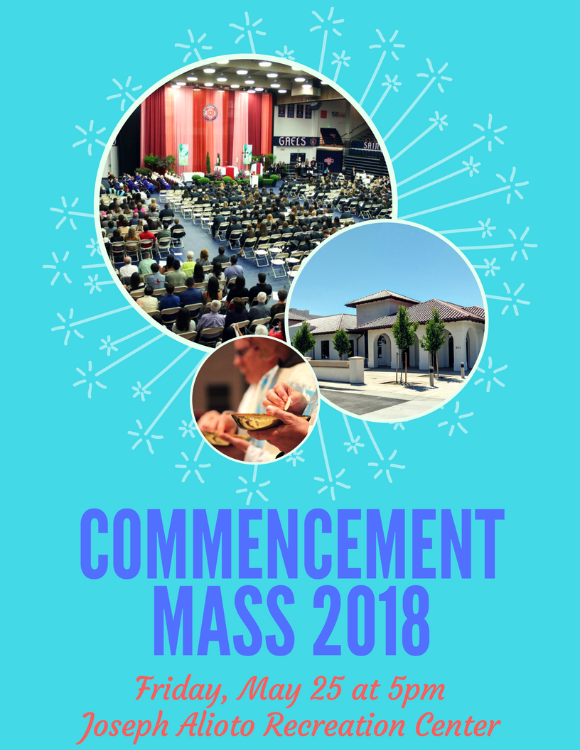 Commencement Mass 2018 flyer