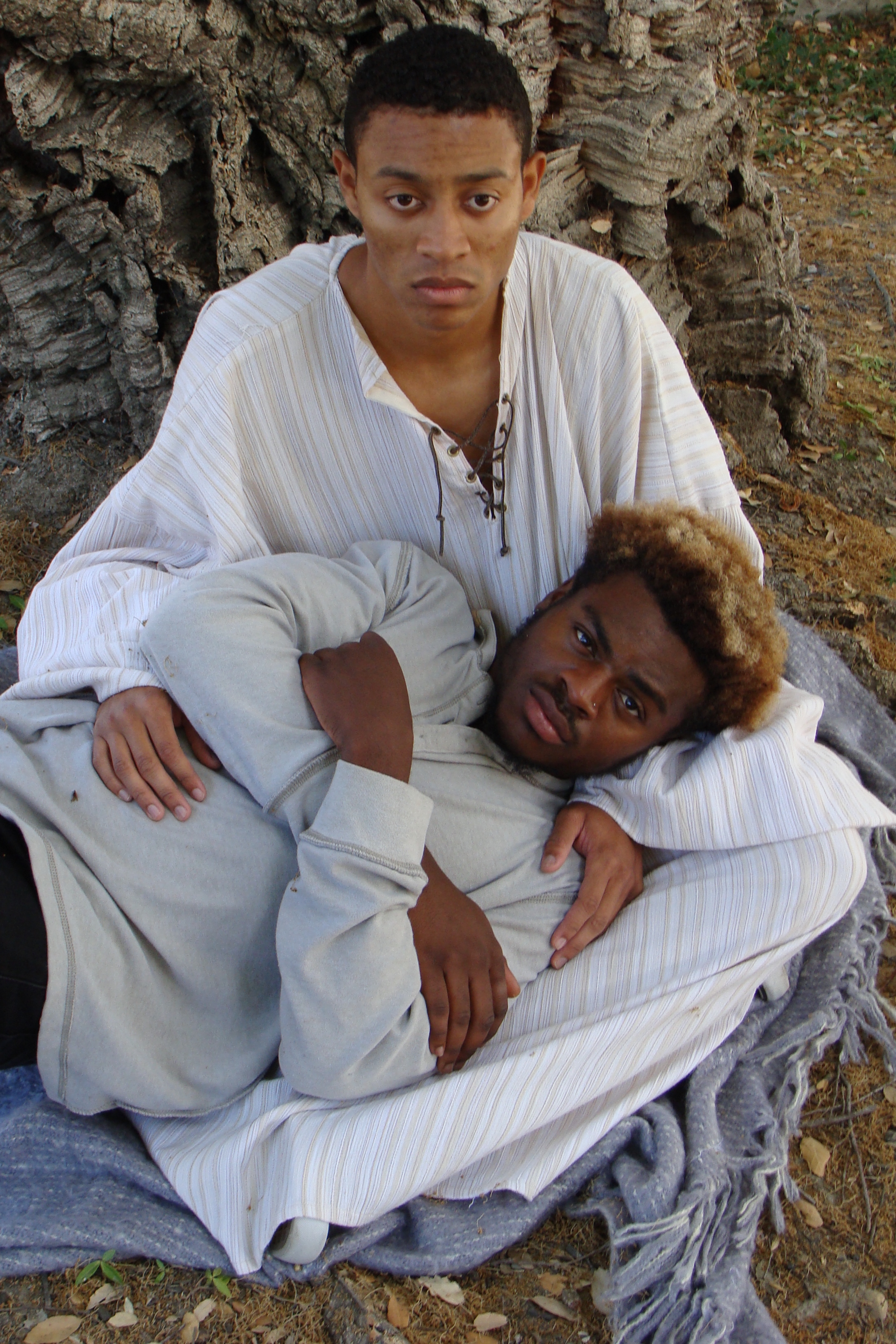 Justin Howard and Angelo Chukwudebe in ...and Jesus Moonwalks the Mississippi, Fall 2017.
