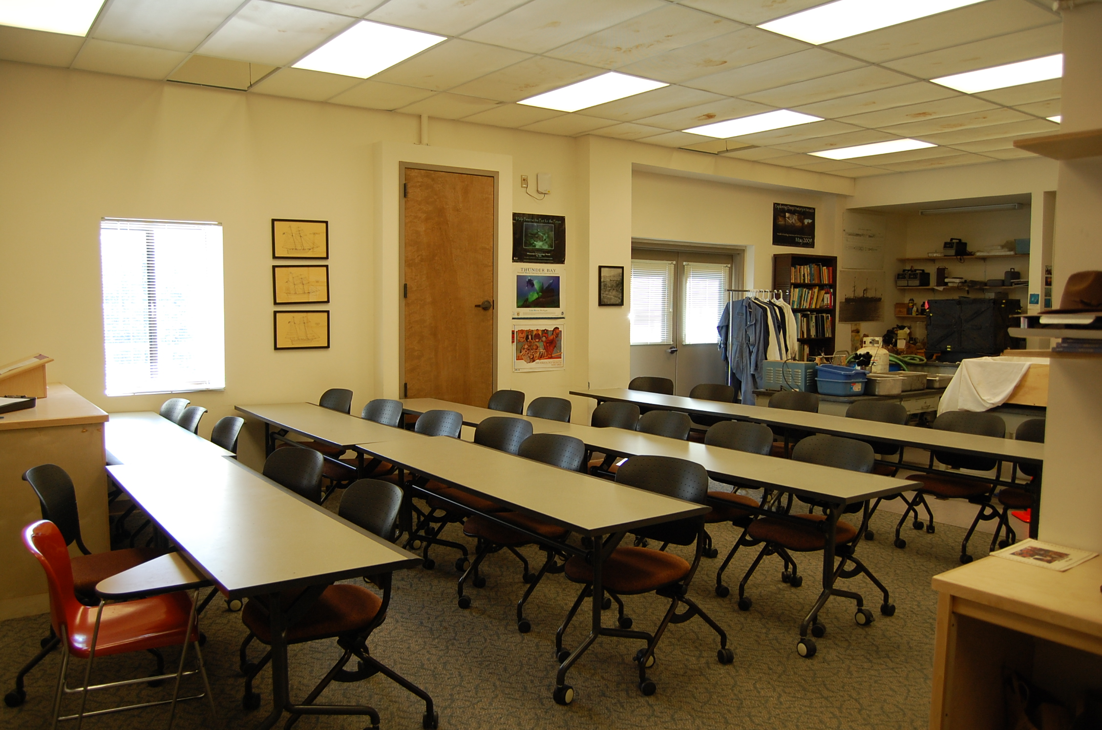 Teacher view of the Archeology Lab
