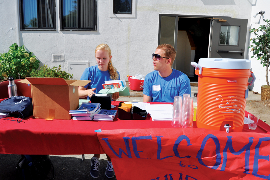 Weekend of Welcome table