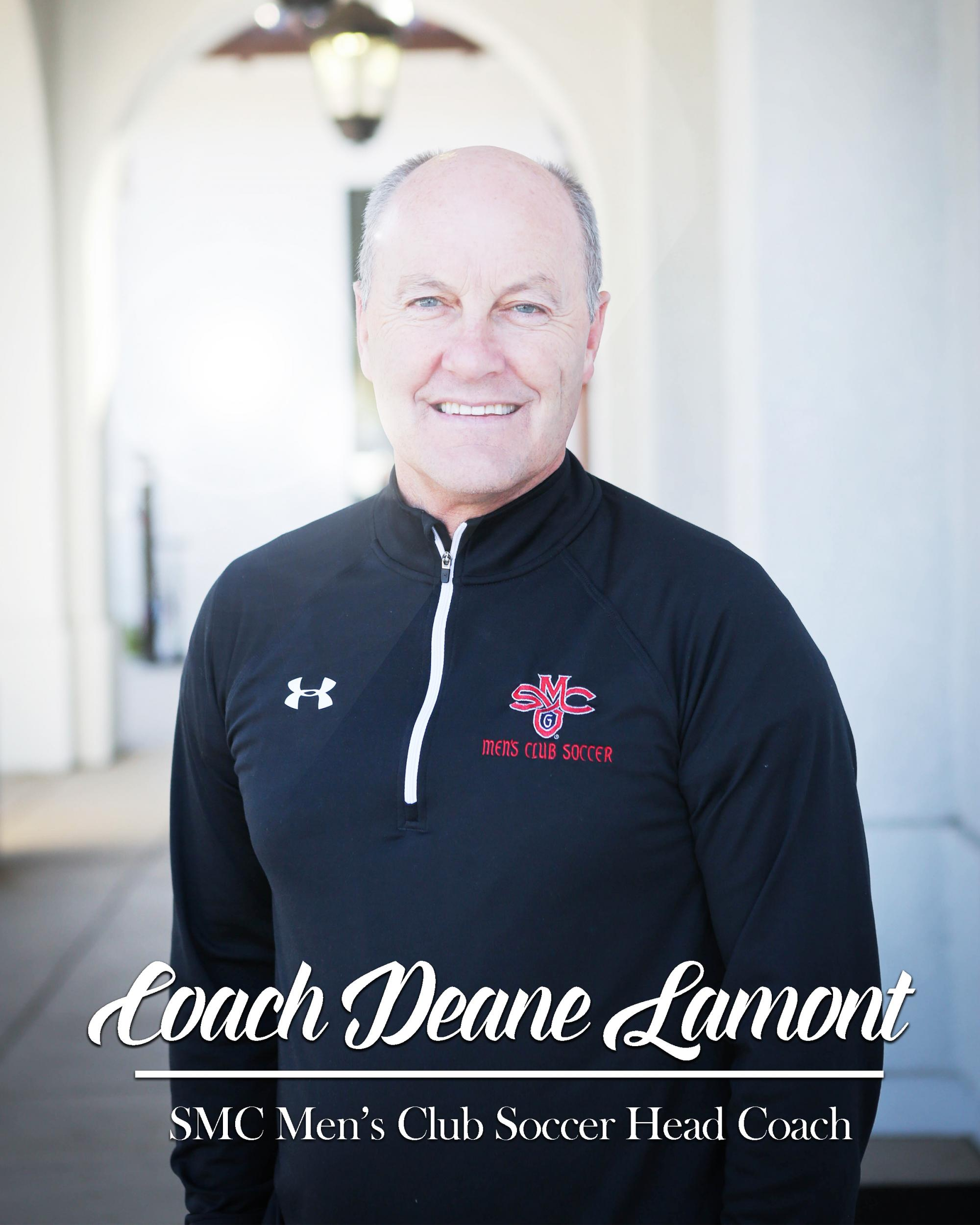 Head Men's Soccer Coach, Deane Lamont