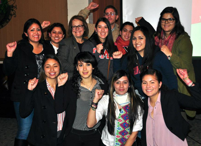 Members of La Hermandad with Maria Elena Durazo (second row, third from left).