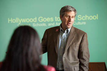 Professor Robert Bulman offered insights on Hollywood high school films