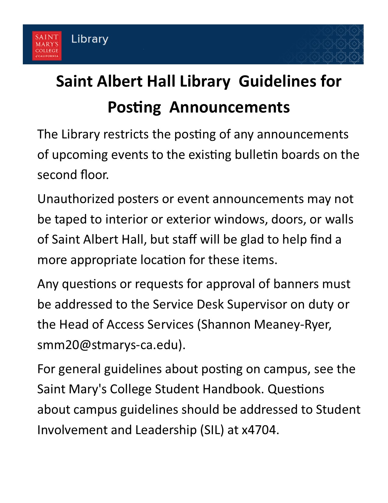 Guidelines for posting in the library