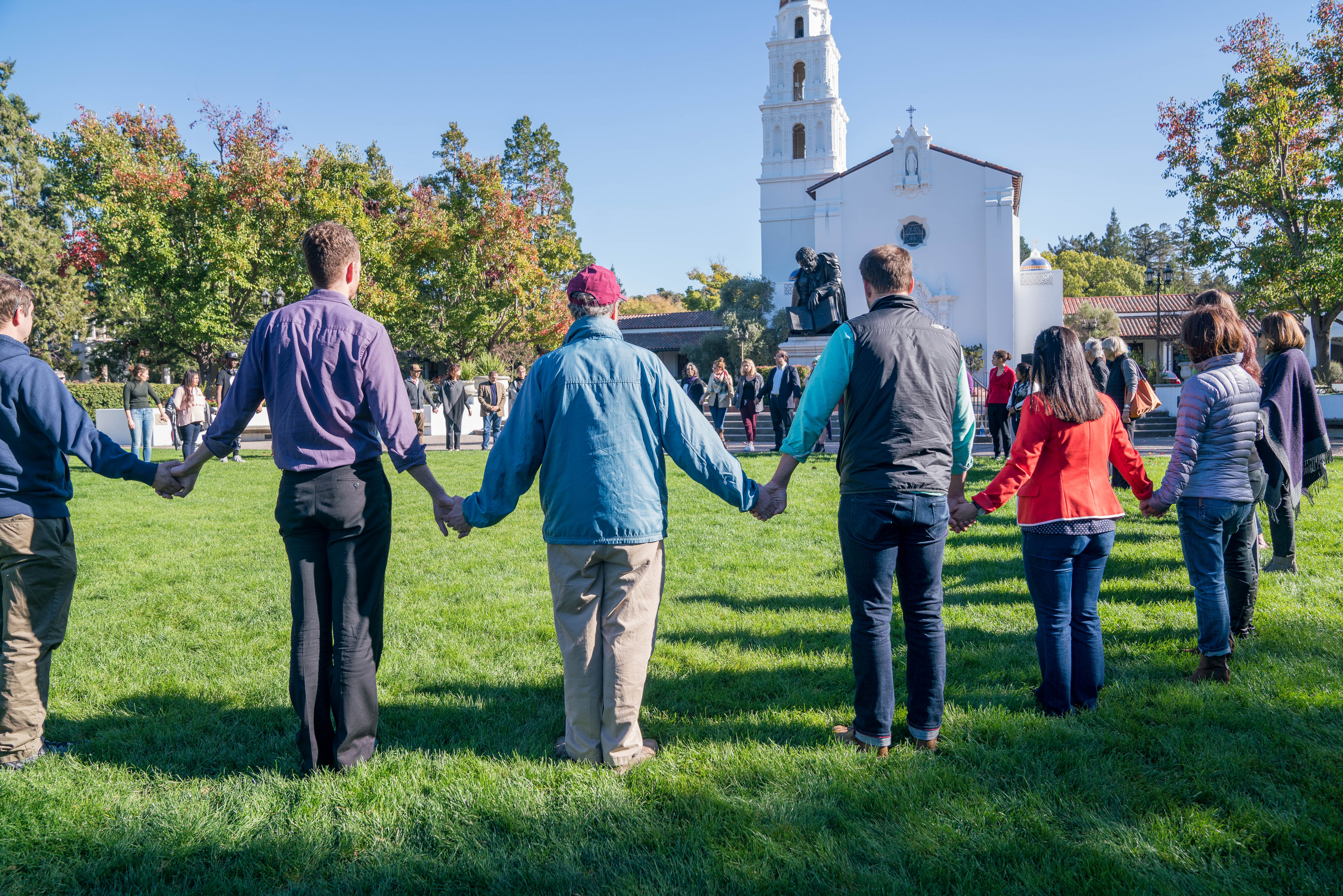Hands Across SMC - lawn & chapel