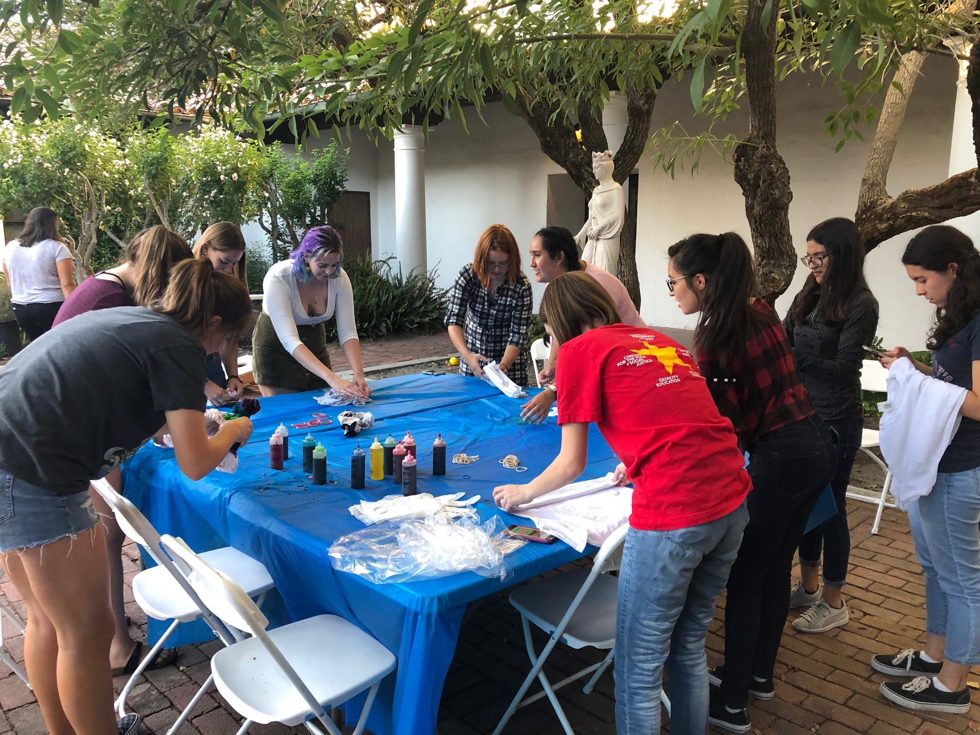 Tie-Dye and Games at Community Night