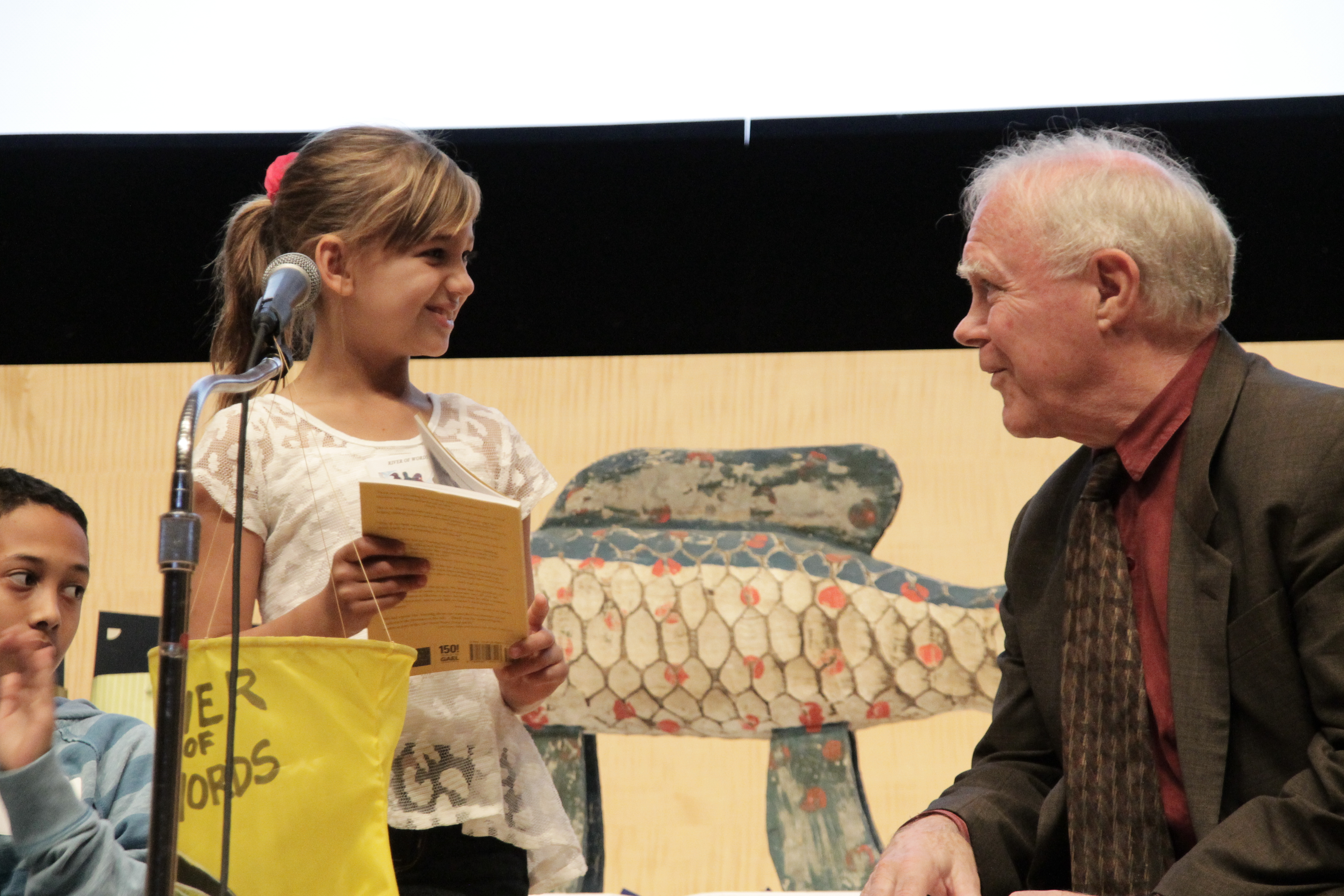 2013 River of Words Category I Grand Prize Winner, Taylor DelPrincipie, with Robert Hass