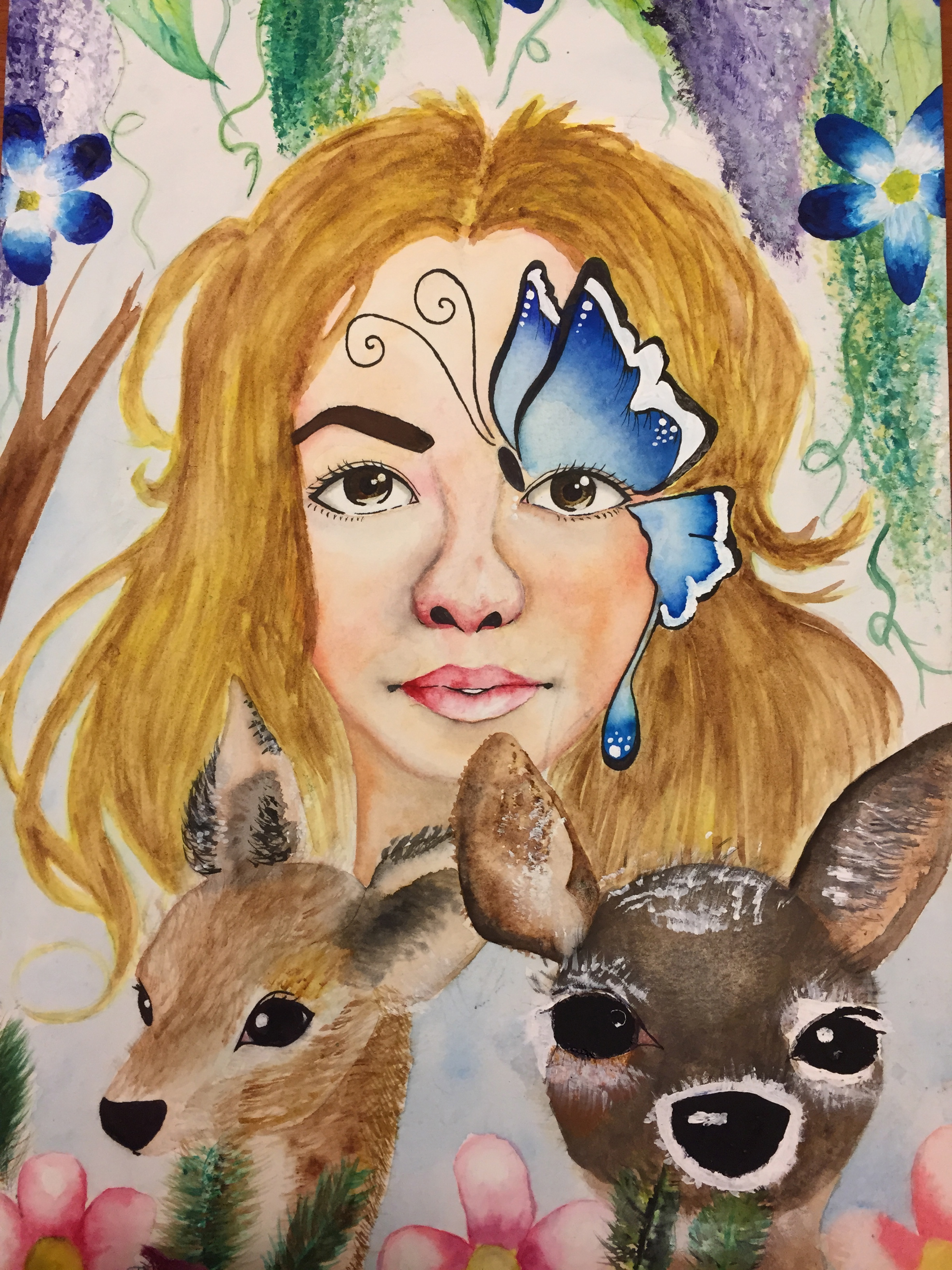 """Untitled"" by Ashley No, age 15. 2015 Art Grand Prize Winner Category IV. Bayside, New York"
