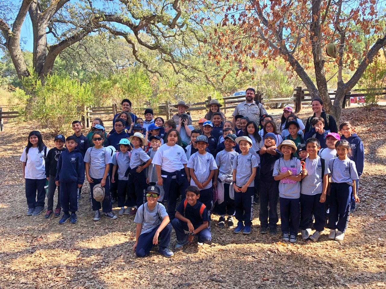 Queen of All Saint School students at Mount Diablo State Park