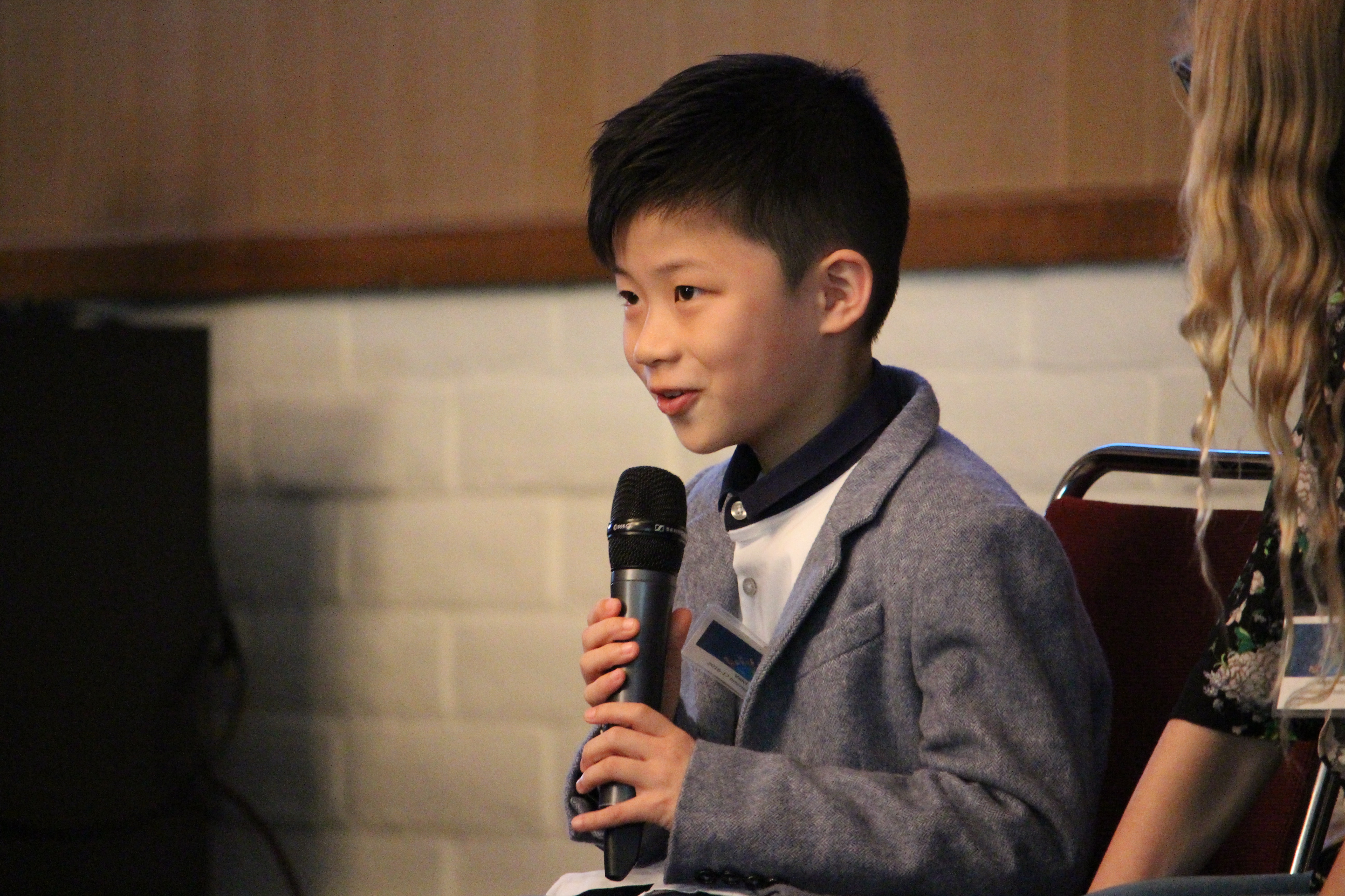 Vinci Chan at the2018 River of Words Award Ceremony at Saint Mary's College of California: April 29th, 2018.