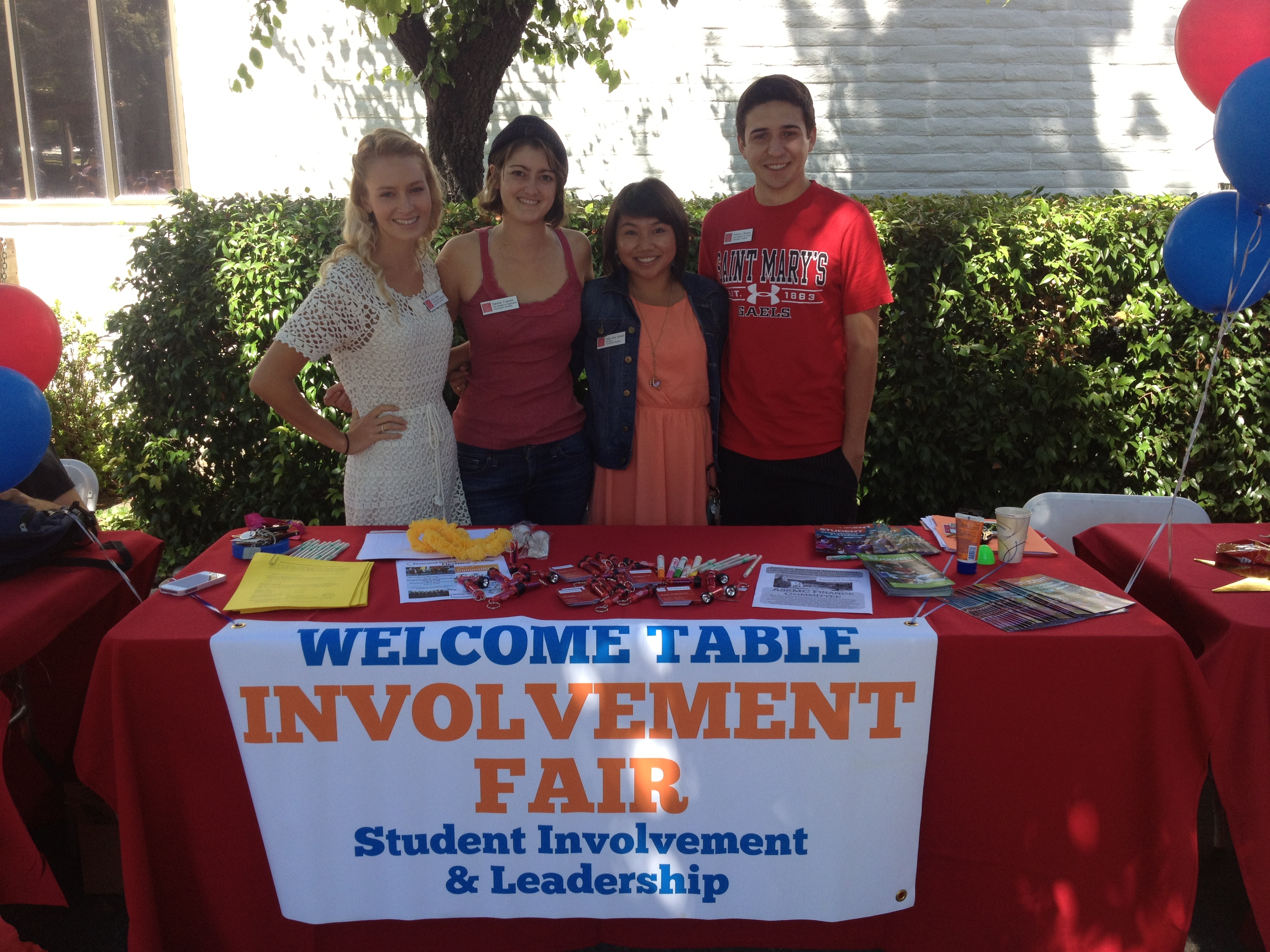 Welcome Table for Involvement Fair Picture