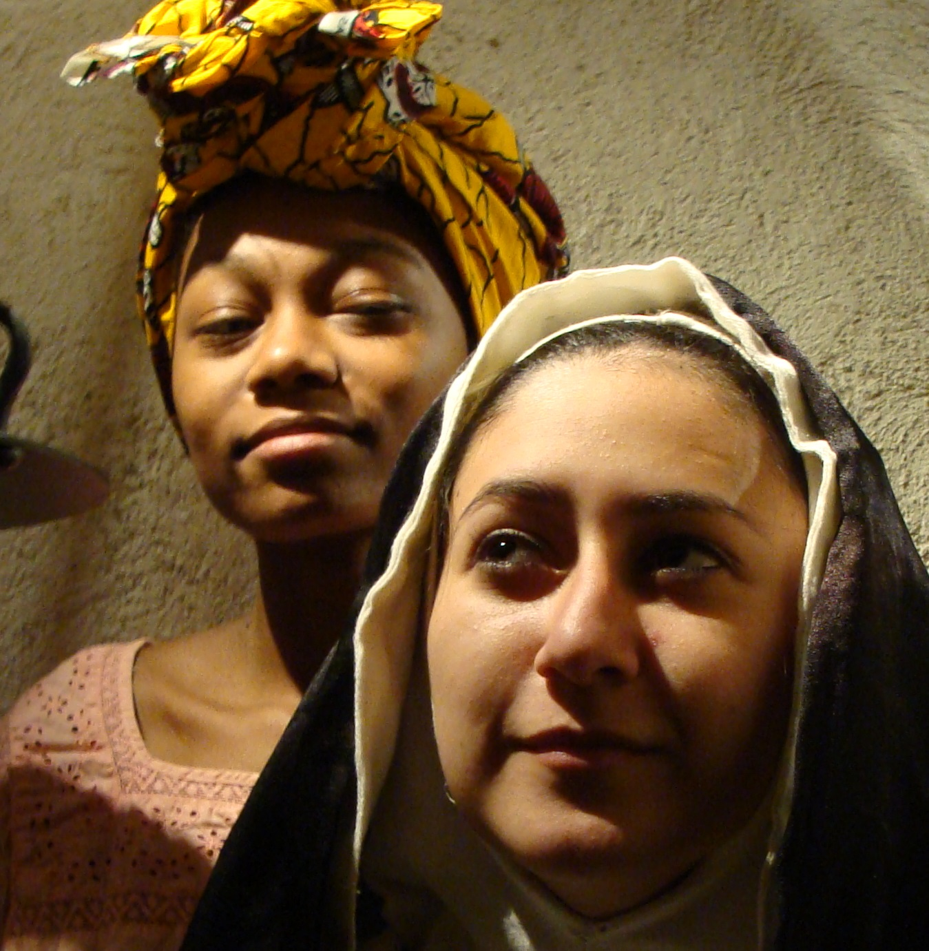 Savannah Williams (Loa) and Alejandra Rivas (Sor Juana).