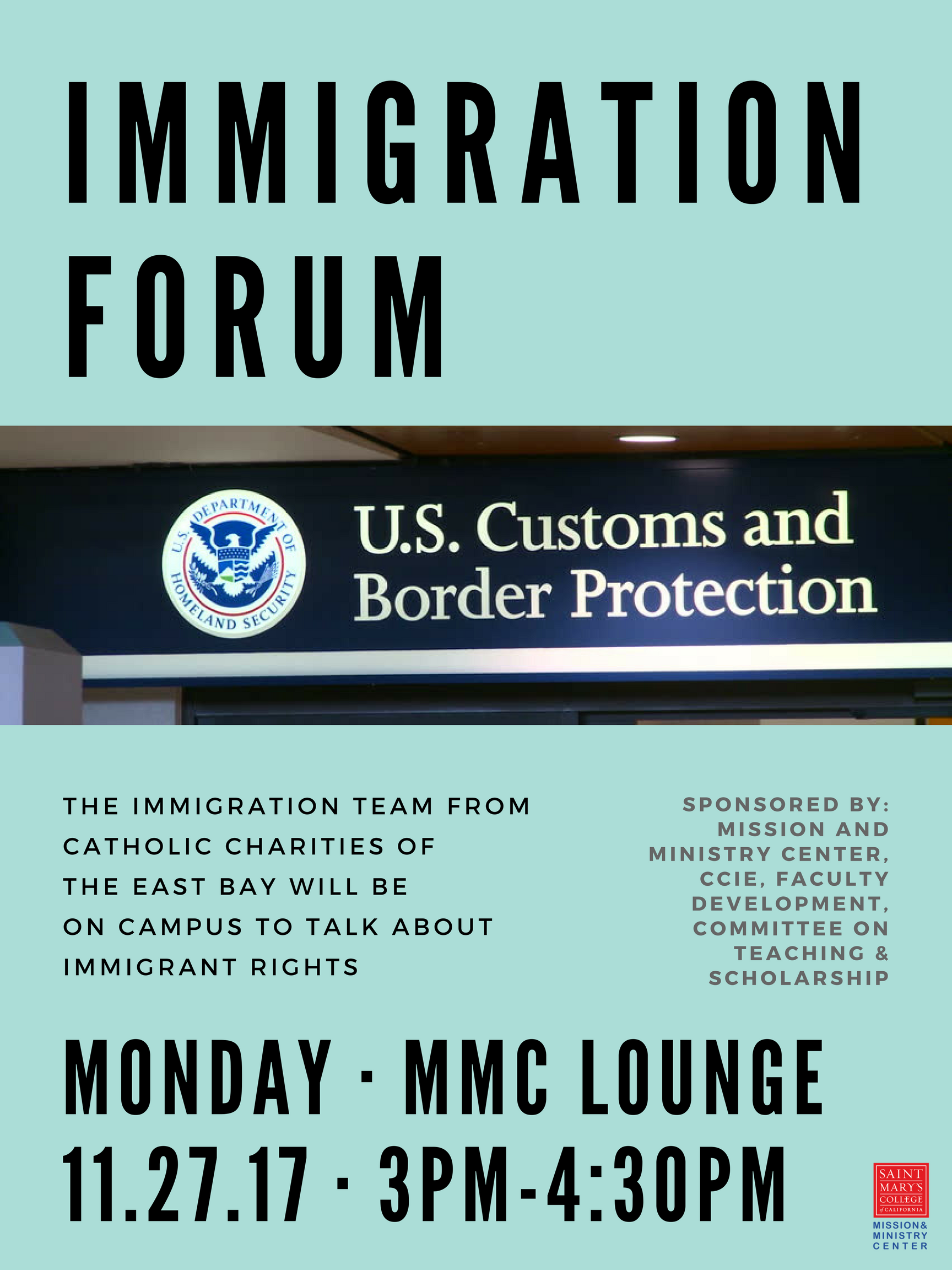 Immigration Forum flyer