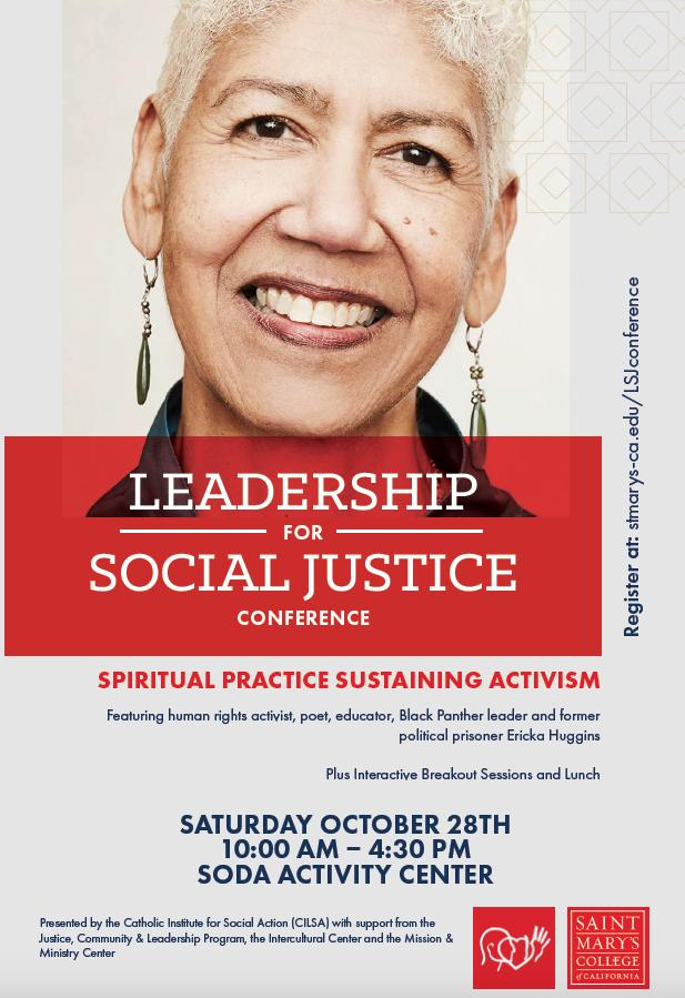 Leadership for Social Justice Conference: Spiritual Practice Sustaining Activism featuring Ericka Huggins