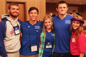 Student leaders on day two - already friends.