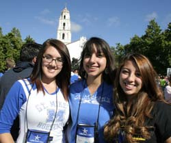 Alex Catanach, Kayla Romero and Andrea Padilla from St. Louis HS in Santa Fe