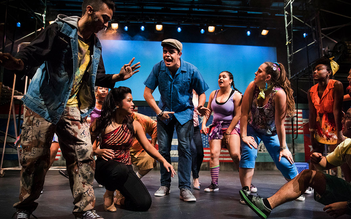 "Students perform last spring in Lin-Manuel Miranda's first musical ""In the Heights"" at Saint Mary's."