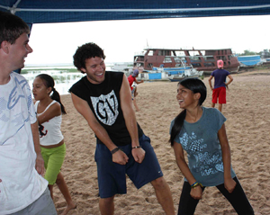 Jan Term also took Navarro to Brazil, where he busted some dance moves with the locals.