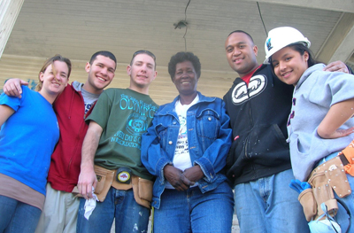 Navarro and fellow students and workers in New Orleans during Jan Term