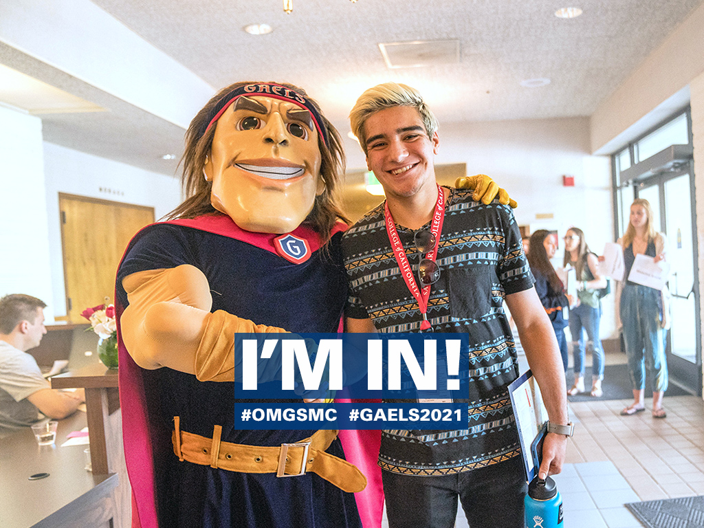 He's in, are you? We're accepting first-year and transfer applications.
