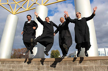 Four new Christian Brothers Novices