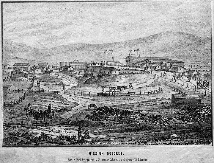 Mission Dolores, 1851