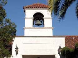 The Christian Brothers purchased the bronze bell in the Korth Tower in 1869–70 for the San Francisco campus. When SMC moved to Oakland, the bell stayed behind and was later installed in the nearby St. John the Evangelist Church. In 1987 the East Bay Scholarship Fund purchased it for the campus to commemorate the College's 125th anniversary.