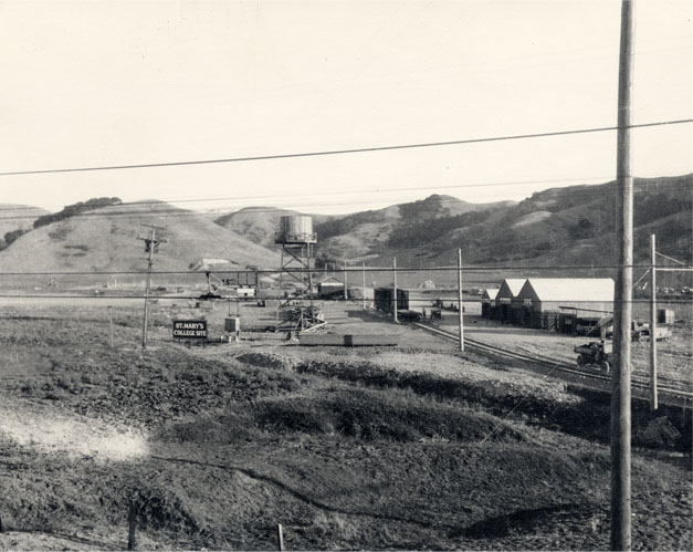 Moraga Valley before Saint Mary's was a lonely stop along the route of the Sacramento Northern Railroad, which would soon carry hundreds of students to the college.