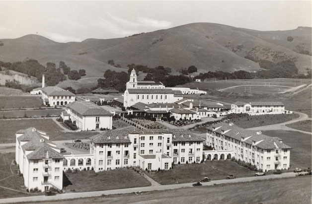 Under Brother Joseph Fenlon's guidance, the completed design was much like the beautiful campus we know today, with the chapel flanked by Dante and Galileo halls and Augustine, De La Salle and Aquinas Halls in the foreground.