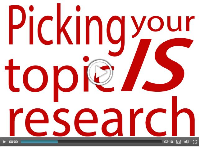 Picking Your Topic Is Research