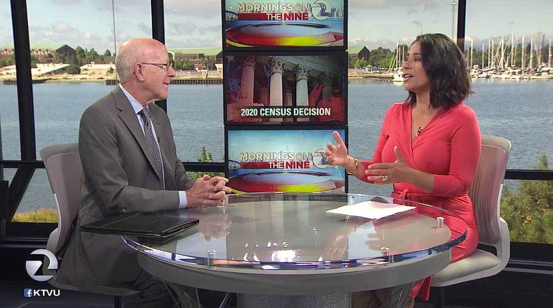 KTVU-TV Interviews SMC's Steve Woolpert About Supreme Court Census Vote on June 27, 2019.